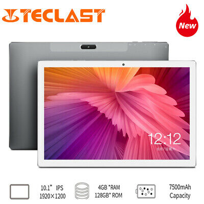 128+4GB pc Teclast M30 10.1'' FHD Tablet WiFi Android 8.0 GPS 7500mAh 4G Phablet