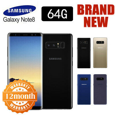 New! Sealed Box Samsung Galaxy Note 8 N950F LTE 4G Mobile 64GB 12 Month Warranty