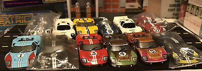 Tomy AFX Ford GT40 Shelby Daytona Chaparral Lot Of 12 Bodies And 3 Chassis