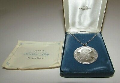 1974 Franklin Mint Mother's Day Sterling Silver Pendant Necklace