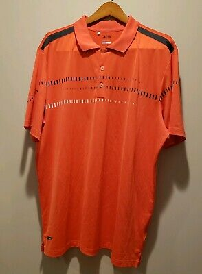 Adidas Puremotion performance golf polo shirt mens XL Orange