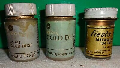 Gold Dust and Metallic Gold -Lot of 3 for China and Porcelain - Duncan, Fiesta