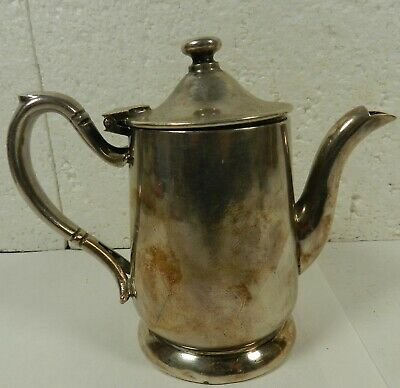 Victor Silver Co PITCHER hinged lid Cream Creamer Syrup Tea Set Acc 76 mark