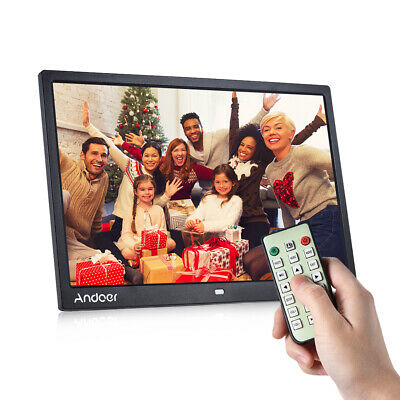 """Andoer 15"""" HD 1080P LED Digital Photo Frame Picture Album MP4 MP3 Movie Player"""