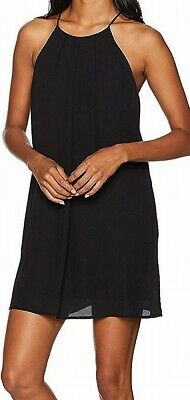 Lucy Love Women's Dress Black Size Large L Late Dinner Halter Shift $65 #397