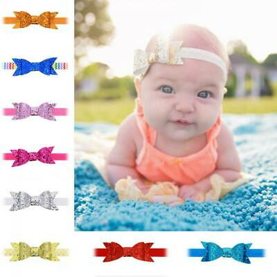 Accessories Shiny Kids Baby Girl Sequined Headband Bowknot Hair Band