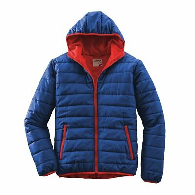 Terrax Workwear Men's Quilted Jacket, Royal/Red