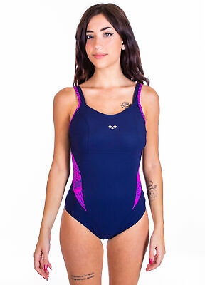 Arena - Costume Intero - Viola - 002330709 - Navy/Rose Violet - Body Lift