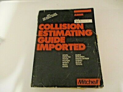Mitchell Collision Estimating Guide Imported Asian March 1993