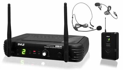 Pyle 8-Channel Wireless Microphone System - Portable UHF Digital Audio Mic Set..