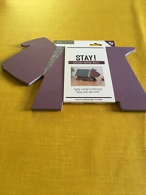 Stay! Doggy Book Rest and Page Keeper - Purple
