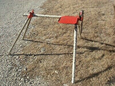 Vintage Portable RIDGID MODEL 560 TOP SCREW CHAIN VISE 1/8 - 5'' Tool Stand USA