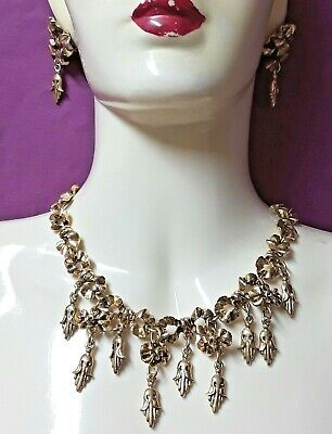 Chantal Thomass - Vintage / Gargantilla y Pendientes Clips Metal Dorado