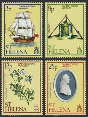 St. Helena, 1979 Anniv. of Captain Cook's Voyages. SG 347-50 Unmounted Mint MNH