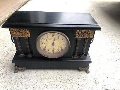 Antique Sessions Mantle Clock 8 Day 1/2 Strike Cathedral 1906 Gilbert Clock Co
