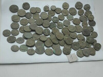 Nice Lot of 100 ancient Roman Bronze Coins Good Quality lot 1 Intact
