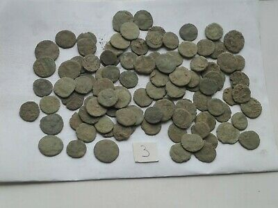 Nice Lot of 100 ancient Roman Bronze Coins Good Quality lot 3 Intact