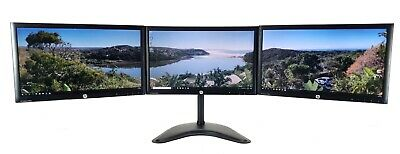 """TRIPLE SCREEN MONITOR SETUP + STAND FOR PC HOME OFFICE 3 x 24"""" FULL HD 1920x1080"""