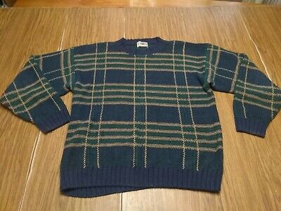 County Seat Jeanswear Mens Hand Knit Multi Colored Plaid Sweater Size XL?