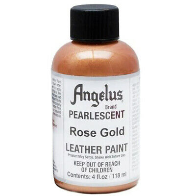 C--456 Angelus Pearlescent Acrylic Leather Paint Rose Gold 4 Oz.