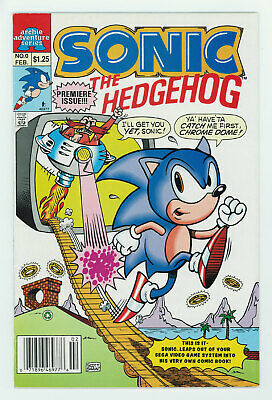 Sonic The Hedgehog #0 8.5 Premiere Issue Mini Series W Pgs 1993