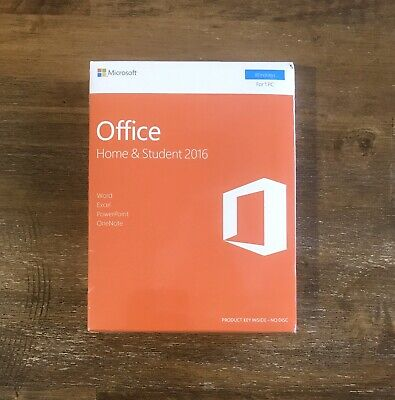 Microsoft Office Home & Student 2016 English for 1 PC - NEW SEALED