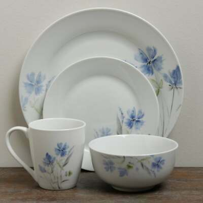 16 Pc Dinnerware Set Service for 4 China Wildflower Dishes Durable Safe Floral