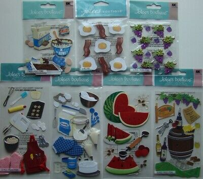 "7 pcs Dimensional Stickers #T3 Jolee/'s Boutique /""Shoe Sizing/"" Children/'s First"