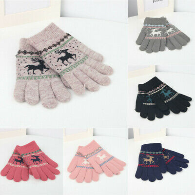 Children Magic Gloves Mittens Girl Boy Kids Stretchy Knitted Winter Warm Gloves.