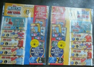 Topps Match Attax trading card game season 2019/20 LIMITED EDITION PACK x 2