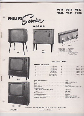 Philips Television Service Notes 1965
