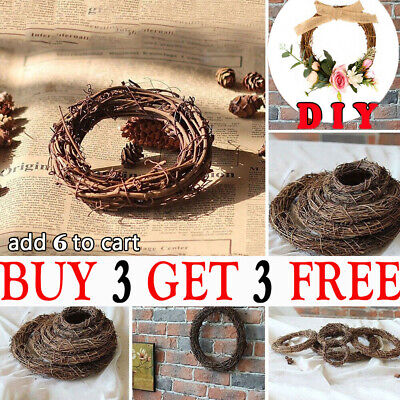 Christmas Artificial Vine Ring Wreath Rattan Wicker Garland Xmas Party Decor CA
