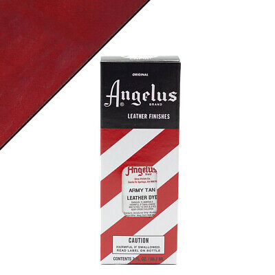 C--010 Angelus Permanent Leather Dye With Applicator 3Oz Army Tan