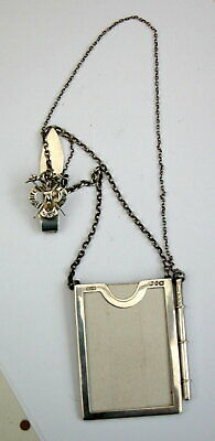 RARE Interesting Victorian solid silver GOLF Belt Chatelaine Score Marker 1895