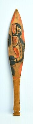 Antique Northwest Coast Ceremonial Paddle with Killer Whale - Late 19th Century