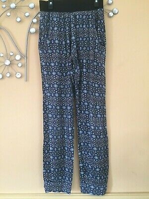 New Look stretchy patterned trousers, 12-13 years - very good condition