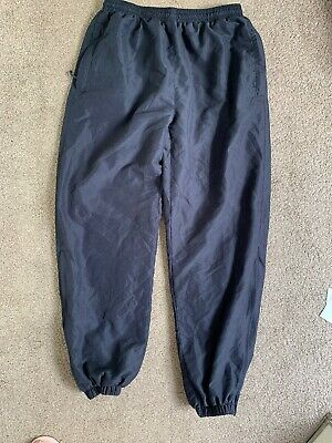 Great Pair Of Navy David Luke Joggers Unisex School Pe Size 32 Inch Waist