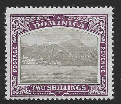 Dominica 1903-07 2/- Grey-Black & Purple SG 34 (Mint)