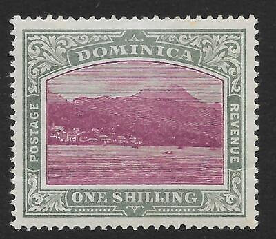 Dominica 1903-07 1/- Magenta & Grey-Green SG 33 (Mint)