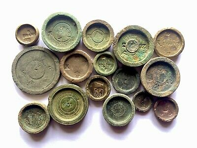 Large Metal Detecting Finds Collection Of Georgian Trade Weights