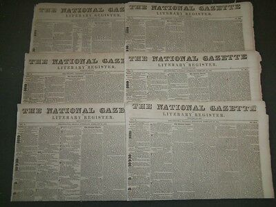 1830 The National Gazette Newspaper Lot Of 15 - Nice Advertisements - Np 1443