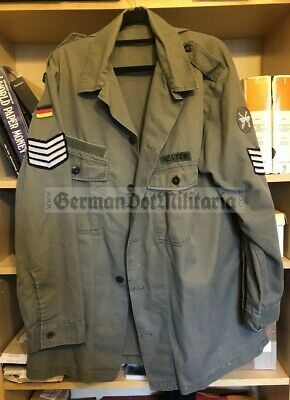lc2) German Bundeswehr shirt from 1987 with East German insignia applied NVA