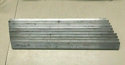 1/4 inch x 1 inch 6061-T651 Aluminum Flat Stock. Lot of 10 pieces.