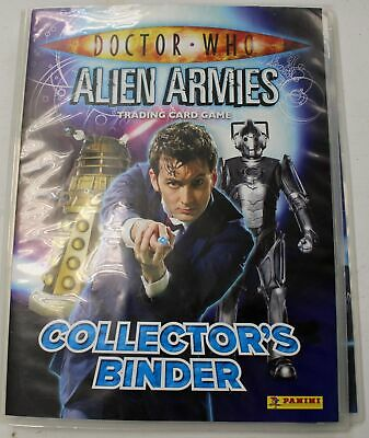 DOCTOR WHO Alien Armies Trading Card Game - Collector's Binder & Cards - L38
