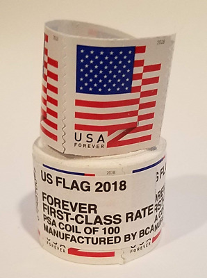 *1000 FOREVER STAMPS* 10 rolls of 100  USPS Forever US Flag Stamp Coil