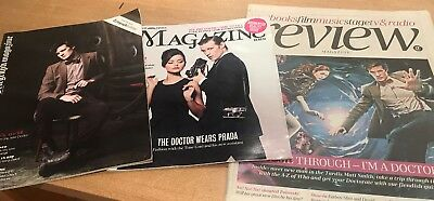 Matt Smith Magazine Cover Bundle The Times, Telegraph Review/Magazine Doctor Who