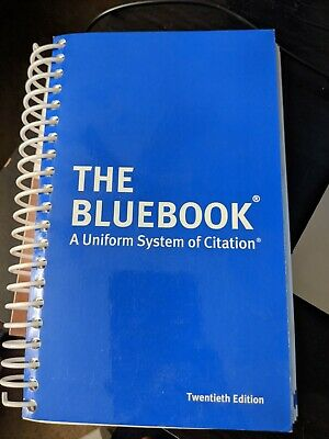 The Bluebook A Uniform System of Citation, 20th - 9780692400197