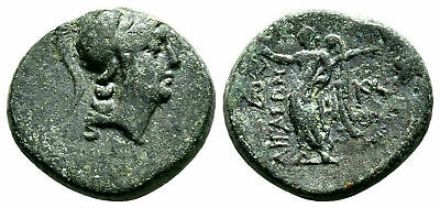 Ancient Greece 2-1 cent BC Aeolis Aigai Athena Nike