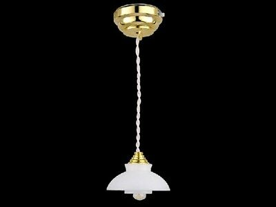 Dollhouse Miniature Battery Operated LED Flower Shade Ceiling Light #WCSBLED280