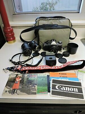 Cannon AE-1 Program 35MM SLR Camera Bundle